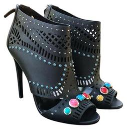 $1,195 Gucci Embellished Open-Toe Lika Ankle Sandals Shoes B