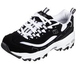 Skechers Black D'lites Shoes Women Sporty Casual Comfort Mem