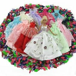 15= Handmade 5 Wedding Party Dress Lace Gown + 10 Shoes Clot