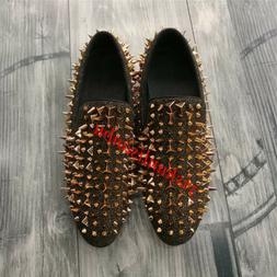 18 Punk Mens Spike Rivet Dress Shoes Nightclub British Loafe