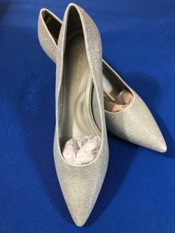 """DREAM PARIS 2.5"""" Silver Dress Special Occasion Shoes Pumps N"""