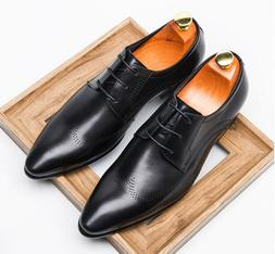 2 Color Size 5-11 New Comfort Leather Lace Up Oxfords Mens F