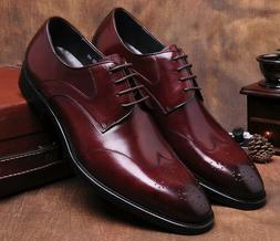 2 Color Size 5-11 New Leather Lace Up Oxfords Mens Business