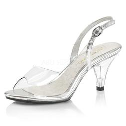 """3"""" Clear Fitness Figure Model Physique Competition Heels Sho"""