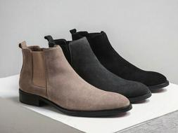 3 Color Size 5-11 Leather Chelsea Ankle Boots Mens Business