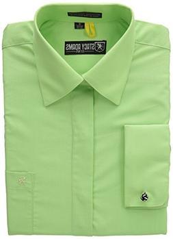 Stacy Adams Men's 39000 Dress Shirt, Pistachio, 17x34/35