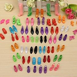 40 Pairs Different High Heel Shoes Boots Accessories For Bar