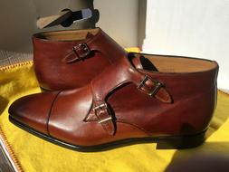 $495.00 Magnanni Men's Double Monk Strap Calf Leather Dress