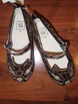 5 7 8 10 BABY GAP Leopard Velour KITTY CAT Dress Ballet Shoe