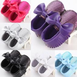 5 Color Bling Sequins Newborn Baby Girls Soft Sole Crib Shoe