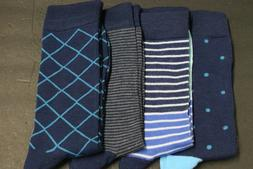 5 PAIRS MEN'S DRESS SOCKS SIZE 10-13 shoe 8-12  COTTON mix p