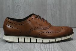 55 Cole Haan Men's ZeroGrand Wingtip Oxford Brown Dress Shoe