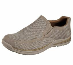 Denim Taupe Skechers Shoes Men Memory Foam Dress Casual 6519