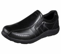 65278 black shoes men memory foam dress