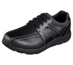 Black Skechers shoes Men Memory Foam Dress Casual Comfort Bi