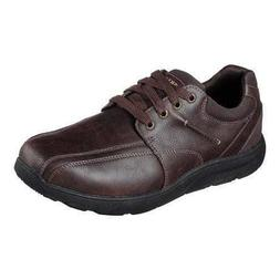 65327 Brown Skechers shoes Men Memory Foam Dress Casual Comf