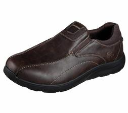 65328 Brown Skechers shoes Men Memory Foam Dress Casual Comf