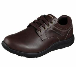 65329 Brown Skechers shoes Men's Memory Foam Dress Casual Co