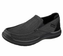 65391 Black Skechers shoes Men's Memory Foam Dress Casual Co