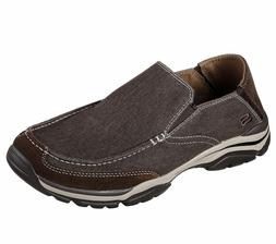 65414 Brown Skechers shoes Men's Memory Foam Dress Casual Co