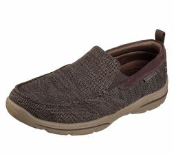65626 Brown Skechers shoes Men's Memory Foam Dress Casual Co