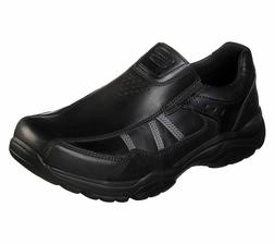 65718 Black Skechers shoes Men's Memory Foam Dress Casual Co
