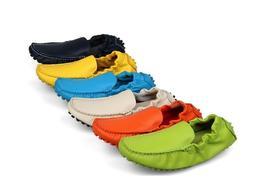 7 Color Size 5-10 Genuine Leather Slip On Driving Loafer Men