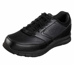 77156 Wide Fit Black Skechers shoes Memory Foam Work Men Com