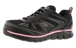 77207 W Wide Black Skechers shoe Women Work Memory Foam Slip