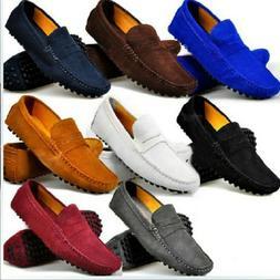 9 Color Size 5-12 Genuine Leather Slip On Penny Loafer Mens