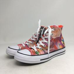 9505 Converse Womens CTAS Hi Top Digital Floral Casual Dress