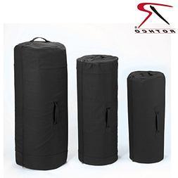 Rothco Canvas Zipper Duffle Bag, 21'' x 36'', Black