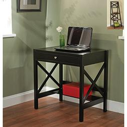Simple Living - Best Choice Wooden Black Writing Desk with 1