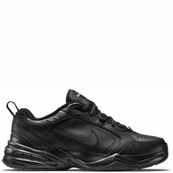Nike Air Monarch IV Black Black Leather For Men's New In Box