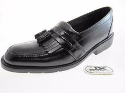 BOSTONIAN ALAND BAXTER MEN'S BLACK SLIP-ON LEATHER DRESS SHO