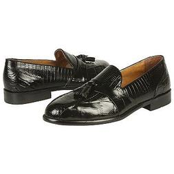 Stacy Adams Men's Alberto Blk Gen Snake w/ Croc/Liz 11.5 M