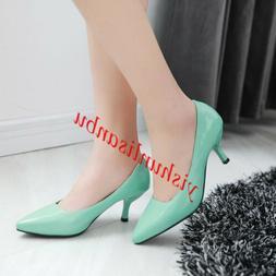 ALL US SIZE Women Kitten heel Office Dress shoes Pointed toe