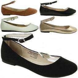 AlpineSwiss Calla Womens Ballet Flats Ankle Strap Shoe Class