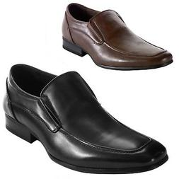 AlpineSwiss Lucerne Mens Dress Shoes Slipon Moc Toe Leather