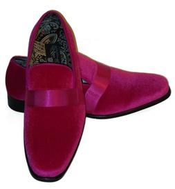 AM 6660 Mens Formal Occasion Velvet Dress Loafers Shoes Brig