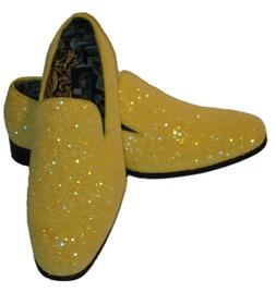 AM 6683 Mens Formal Glitter Dress Loafers Shoes Sparkly Meta