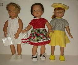 """AMERICAN MADE DOLL CLOTHES FOR 18"""" GIRL DOLL Handmade DRESS"""