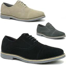 Alpine Swiss Aston Mens Lace Up Oxfords Genuine Suede Cap To
