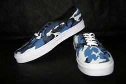 VANS Authentic  Men's Skate Shoes Black/Dress Blues NIB! NIC