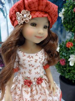 "Autumn Berries - dress, hat, tights & shoes for 14.5"" Ruby R"