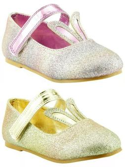 Baby Girl's Dress Shoes Mary Jane Easter Bunny Ears Toddler