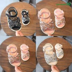 Baby Infant Summer Sandals For Girls Pu Leather Princess Par