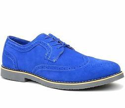Alpine Swiss Beau Mens Dress Shoes Genuine Suede Wing Tip Ox