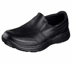 Skechers Black Extra Wide Shoes Men's Comfort Slip On Dress