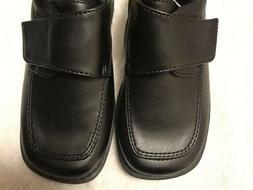Smartfit Black Faux Leather Boy's DRESS Shoes NEW Velcro FAS